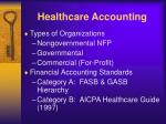 healthcare accounting