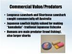 commercial value predators