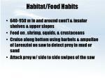 habitat food habits