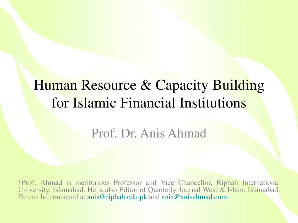 human resource capacity building for islamic financial institutions l.