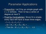 parameter applications11