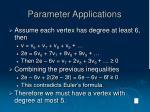 parameter applications12
