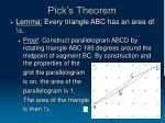 pick s theorem17
