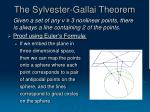 the sylvester gallai theorem
