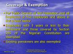coverage exemption