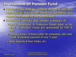 investment of pension fund