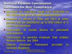 national pension commission sanctions for non compliance