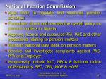 national pension commission