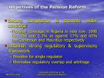 objectives of the pension reform9
