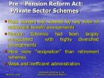 pre pension reform act private sector schemes