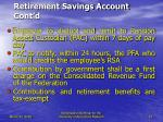 retirement savings account cont d