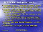 retirement savings account