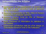 safeguards for the scheme33