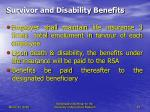 survivor and disability benefits