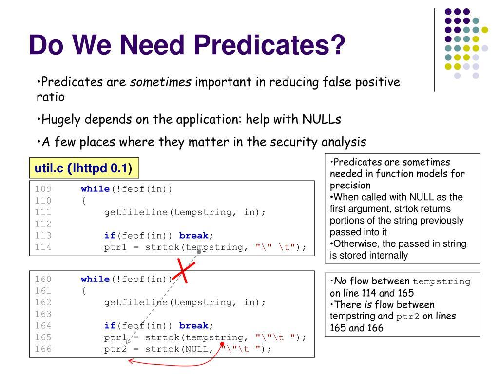 Do We Need Predicates?