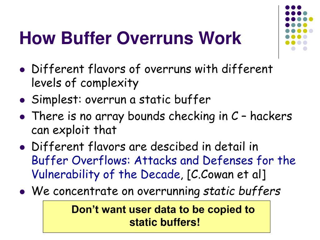 How Buffer Overruns Work