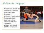 multimedia campaign