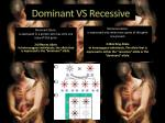 dominant vs recessive
