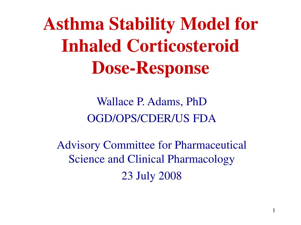 asthma stability model for inhaled corticosteroid dose response l.