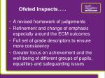 ofsted inspects