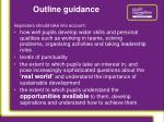 outline guidance
