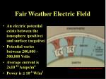 fair weather electric field