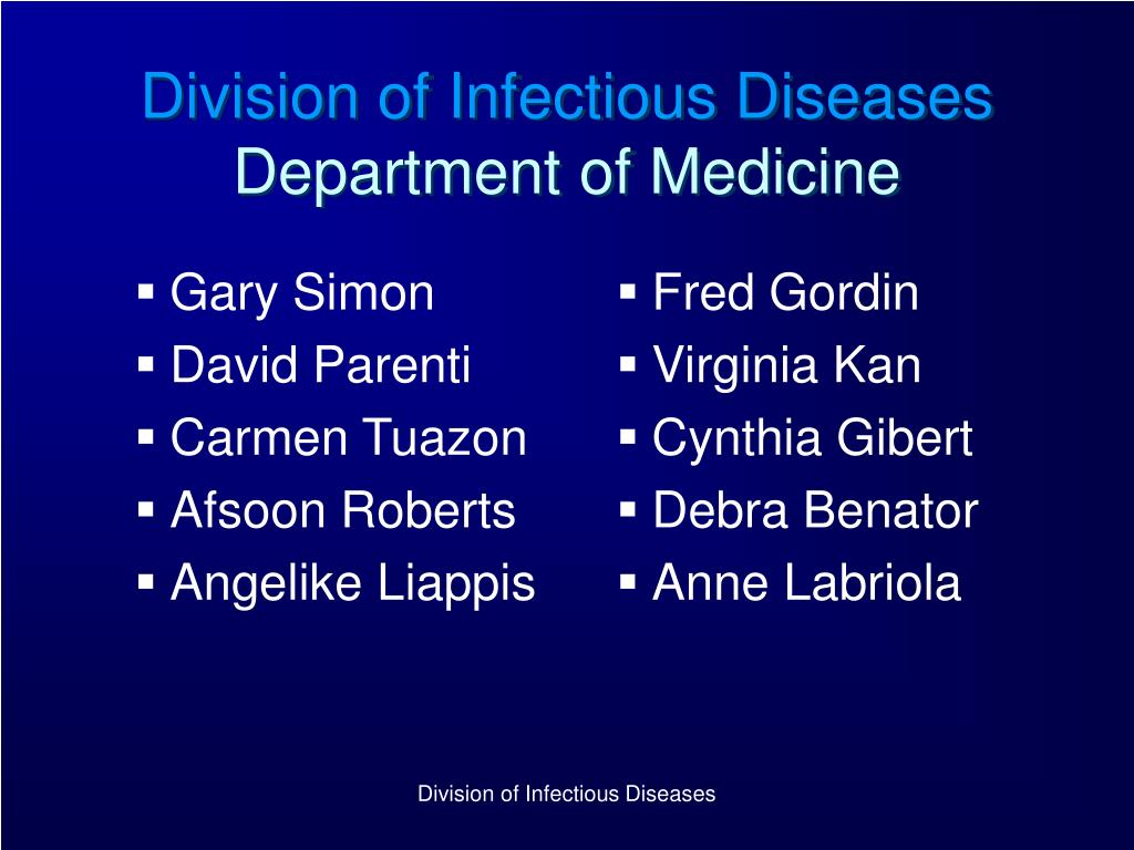 division of infectious diseases department of medicine l.
