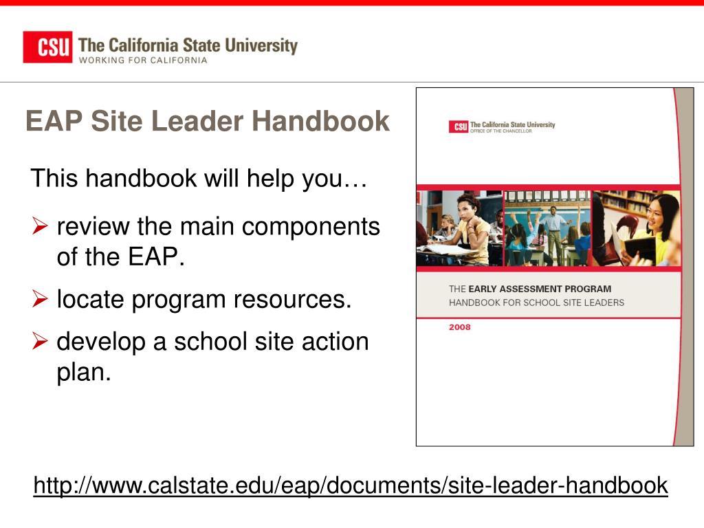 EAP Site Leader Handbook