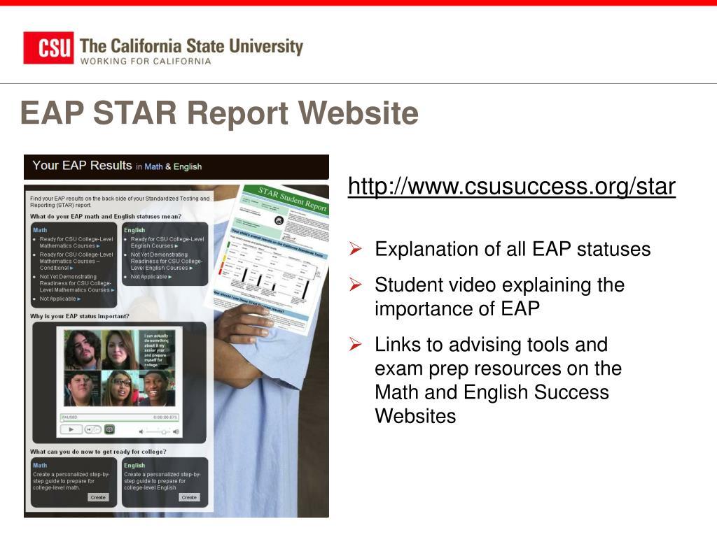 EAP STAR Report Website