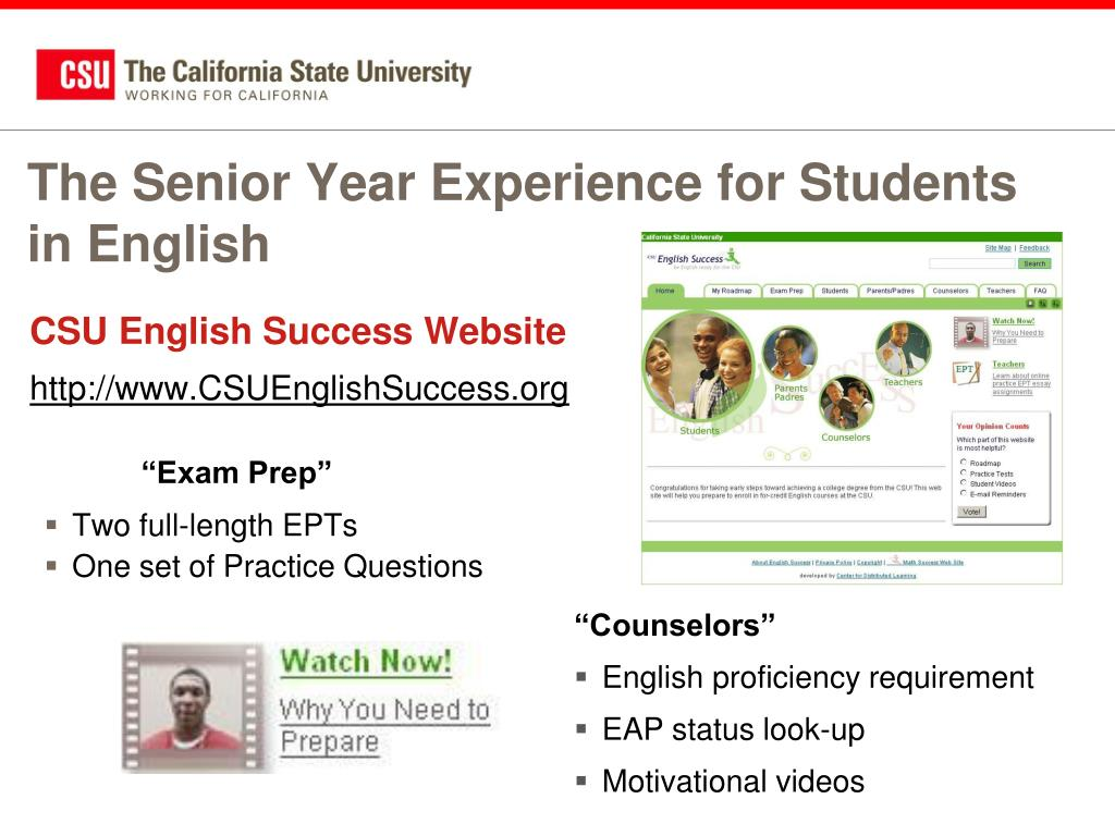The Senior Year Experience for Students in English