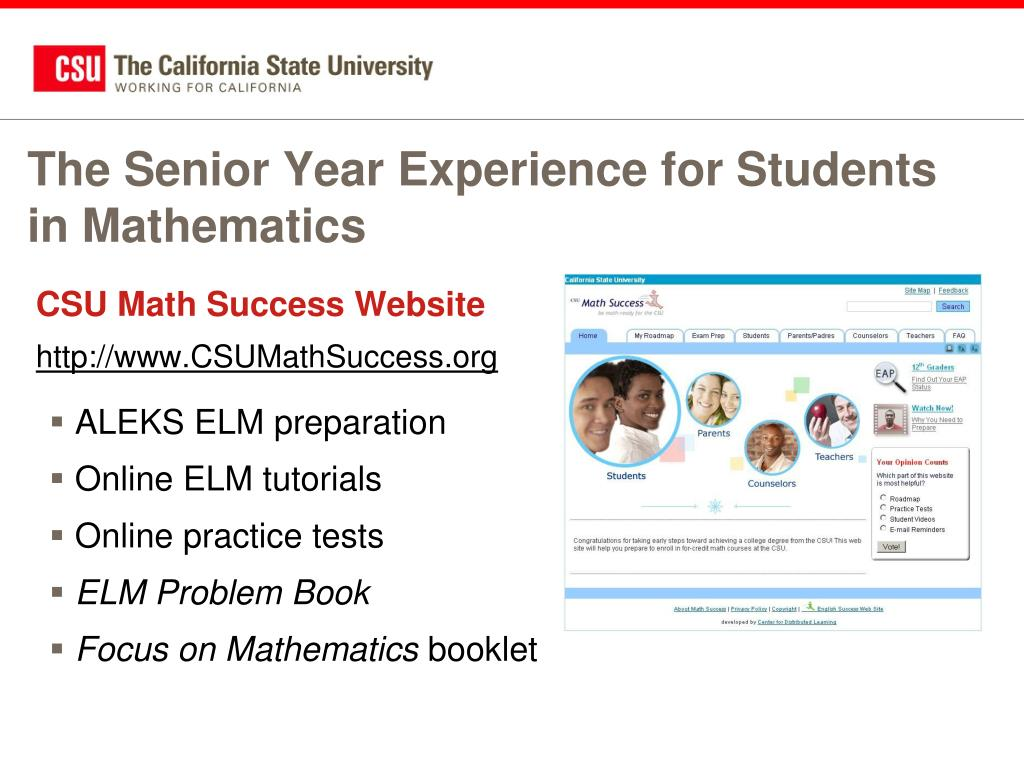 The Senior Year Experience for Students in Mathematics