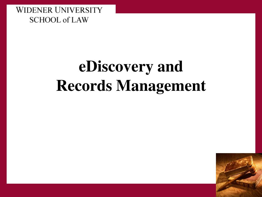 ediscovery and records management l.