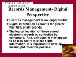records management digital perspective