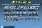 aimi trial limitations