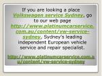 http www platinumcarservice com au content vw service sydney9