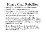 huang chao rebellion