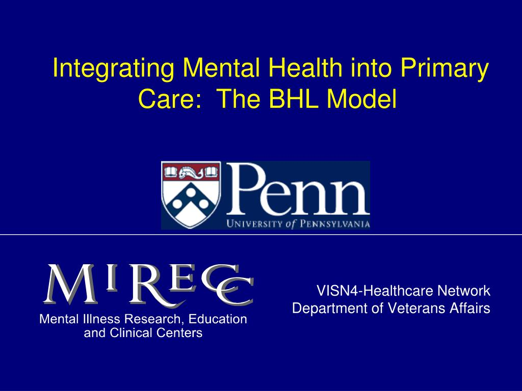 integrating mental health into primary care the bhl model l.