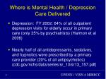 where is mental health depression care delivered