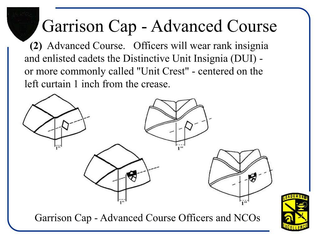 Garrison Cap - Advanced Course