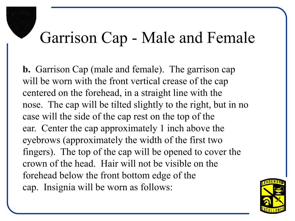 Garrison Cap - Male and Female