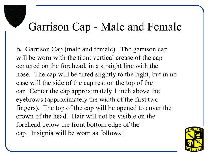 Garrison cap male and female