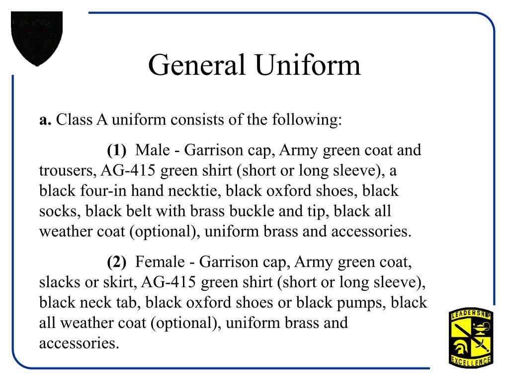 General Uniform