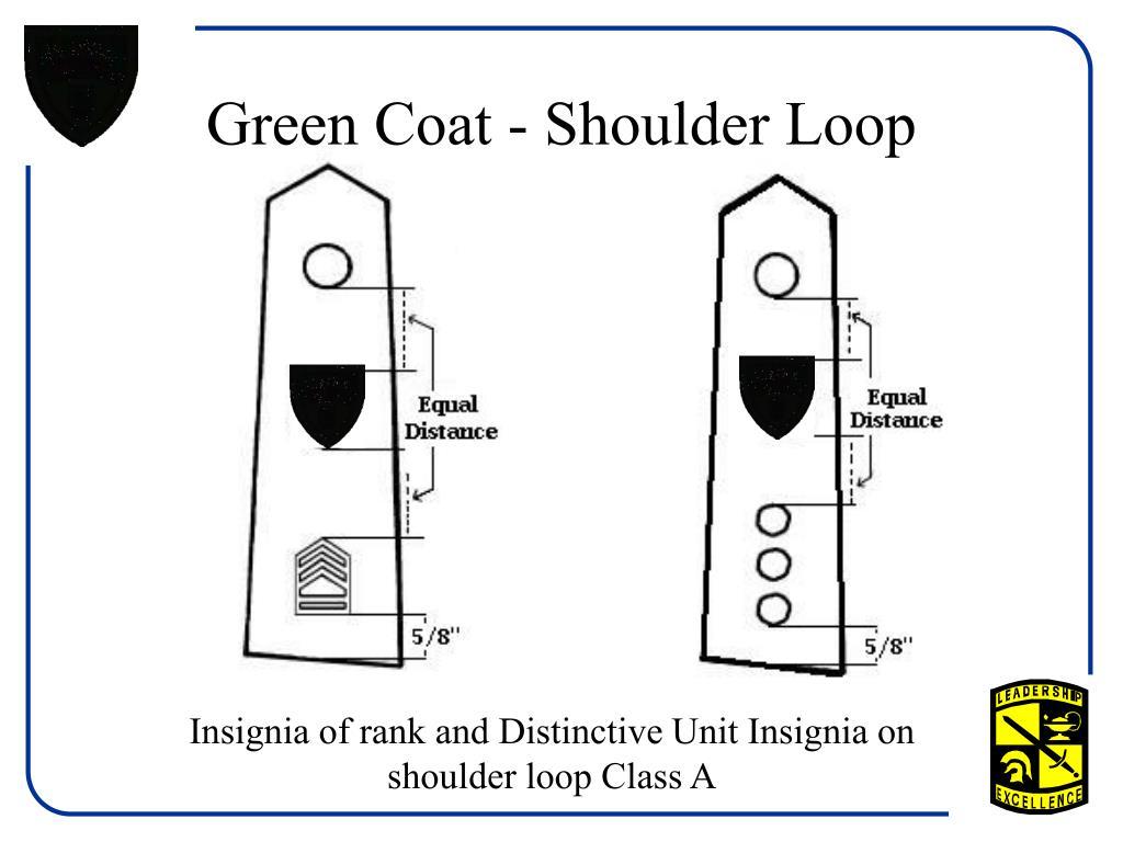 Green Coat - Shoulder Loop