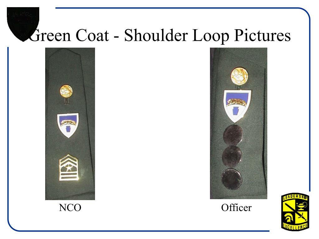 Green Coat - Shoulder Loop Pictures