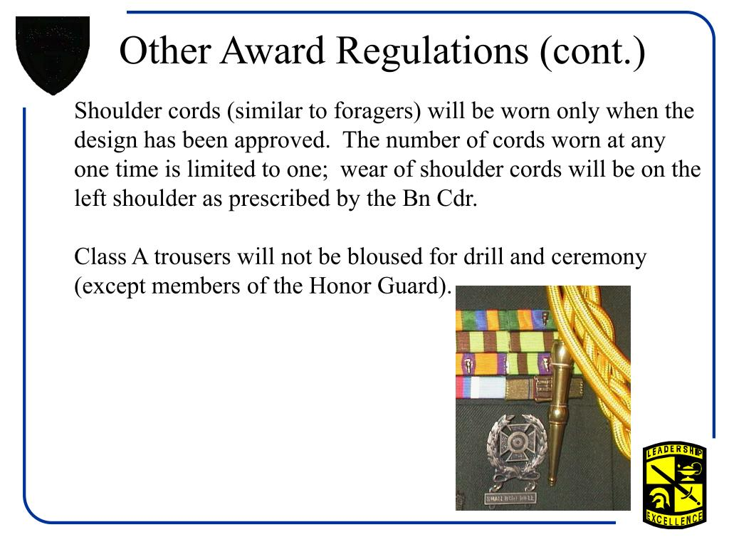 Other Award Regulations (cont.)
