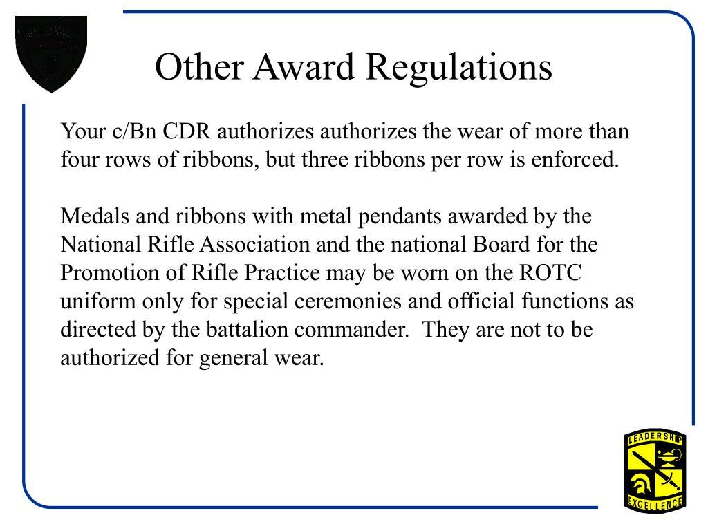 Other Award Regulations