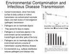 environmental contamination and infectious disease transmission