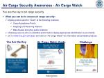 air cargo security awareness air cargo watch