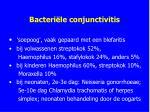 bacteri le conjunctivitis