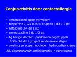conjunctivitis door contactallergie